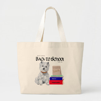 West Highland White Terrier Back to School Large Tote Bag