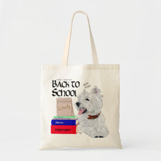 West Highland White Terrier Back to School Budget Tote Bag