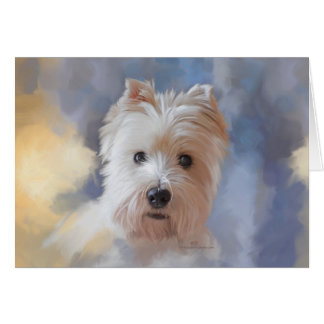 West Highland White Terrier Card