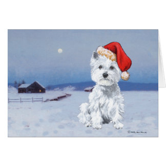 West Highland White Terrier Christmas Card