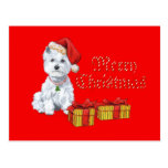 West Highland White Terrier Christmas Gifts Postcard