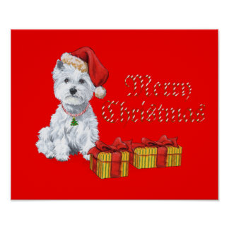 West Highland White Terrier Christmas Gifts Posters