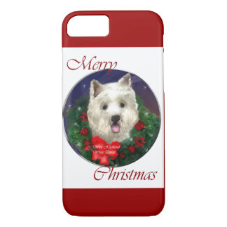 West Highland White Terrier Christmas iPhone 7 Case
