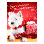 West Highland White Terrier Christmas Wishes Postcard