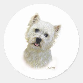 West Highland White Terrier Classic Round Sticker