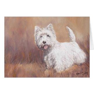 West Highland White Terrier Dog Art Note Card