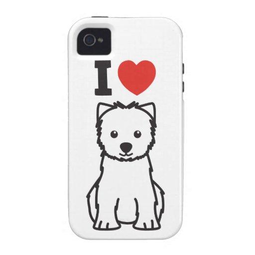 West Highland White Terrier Dog Cartoon iPhone 4 Case
