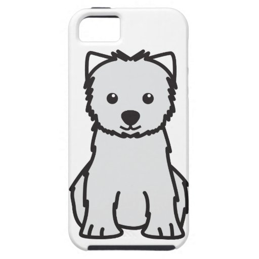 West Highland White Terrier Dog Cartoon iPhone 5 Cases