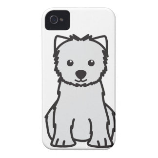 West Highland White Terrier Dog Cartoon Case-Mate iPhone 4 Cases