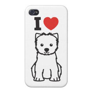 West Highland White Terrier Dog Cartoon iPhone 4 Cases