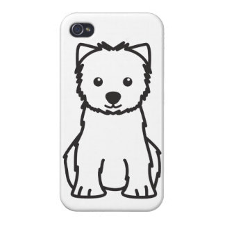 West Highland White Terrier Dog Cartoon iPhone 4 Covers