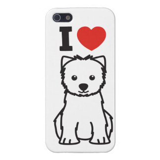 West Highland White Terrier Dog Cartoon Cases For iPhone 5
