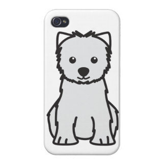 West Highland White Terrier Dog Cartoon iPhone 4/4S Cover