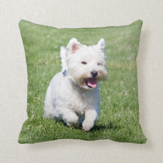 West Highland White Terrier dog cute photo cushion