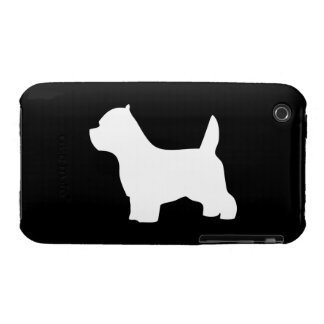 West Highland White Terrier dog, westie silhouette iPhone 3 Case-Mate Case