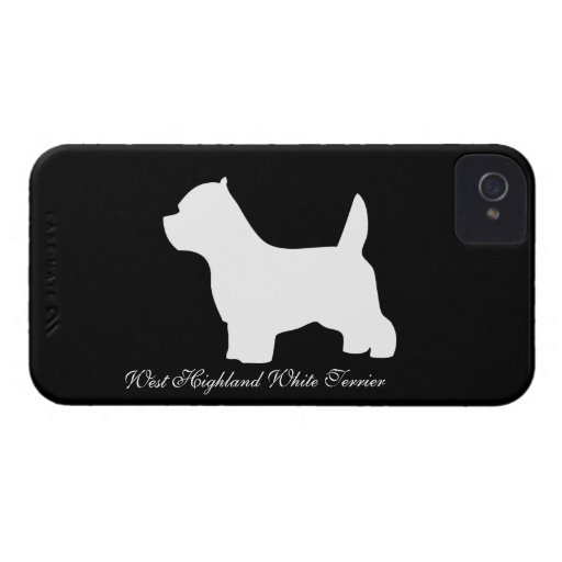 West Highland White Terrier dog, westie silhouette Blackberry Bold Covers
