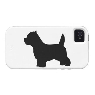West Highland White Terrier dog westie silhouette Vibe iPhone 4 Cover