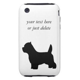 West Highland White Terrier dog, westie silhouette Tough iPhone 3 Case