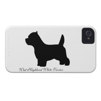 West Highland White Terrier dog, westie silhouette iPhone 4 Case-Mate Cases