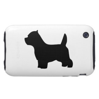 West Highland White Terrier dog, westie silhouette iPhone 3 Tough Cover
