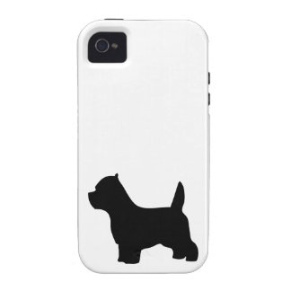West Highland White Terrier dog, westie silhouette Vibe iPhone 4 Cases