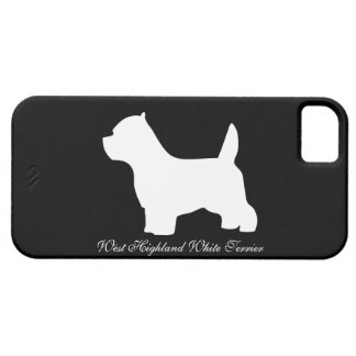 West Highland White Terrier dog, westie silhouette iPhone 5 Case