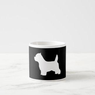 West Highland White Terrier dog, westie silhouette Espresso Mug
