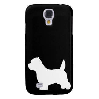 West Highland White Terrier dog, westie silhouette Galaxy S4 Case