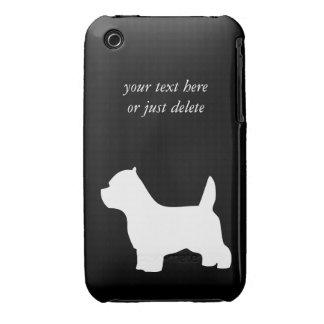 West Highland White Terrier dog, westie silhouette iPhone 3 Case