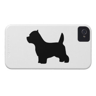 West Highland White Terrier dog, westie silhouette iPhone 4 Cases