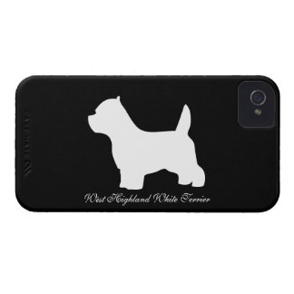 West Highland White Terrier dog, westie silhouette iPhone 4 Covers
