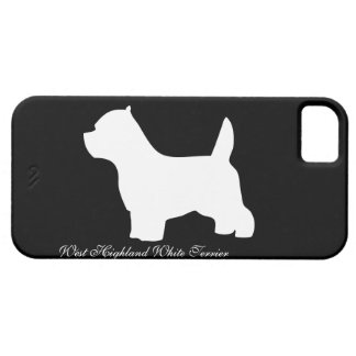 West Highland White Terrier dog, westie silhouette iPhone 5 Cases
