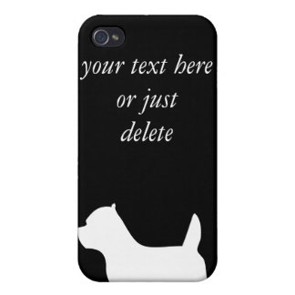 West Highland White Terrier dog, westie silhouette Cover For iPhone 4