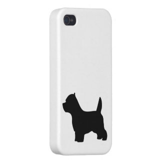West Highland White Terrier dog, westie silhouette iPhone 4/4S Covers