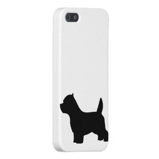West Highland White Terrier dog, westie silhouette Case For iPhone 5
