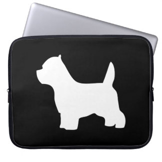 West Highland White Terrier dog, westie silhouette Laptop Sleeve