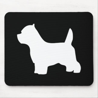 West Highland White Terrier dog, westie silhouette Mouse Mat