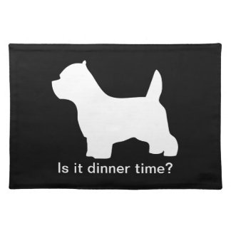 West Highland White Terrier dog westie silhouette Placemats