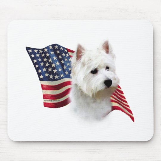 West Highland White Terrier Flag Mouse Mat