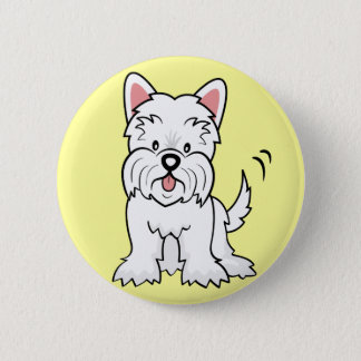West Highland White Terrier Gifts and Merchandise 6 Cm Round Badge