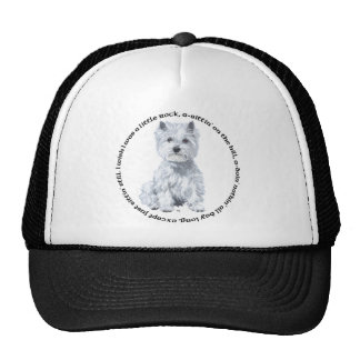 West Highland White Terrier in Pensive Mood Cap