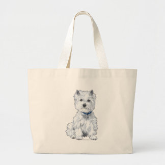 West Highland White Terrier Jumbo Tote Bag
