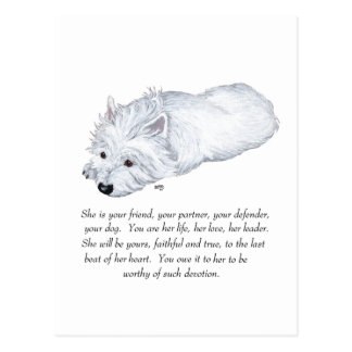 West Highland White Terrier Keepsake Postcard