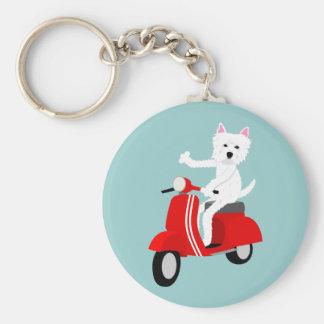 West Highland White Terrier  Key Ring