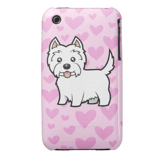 West Highland White Terrier Love iPhone 3 Cases