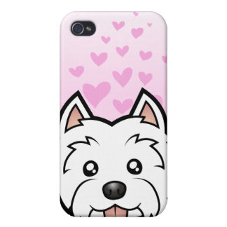 West Highland White Terrier Love iPhone 4/4S Covers