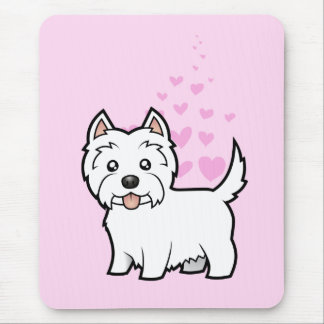 West Highland White Terrier Love Mouse Mat