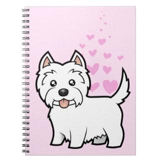 West Highland White Terrier Love Notebooks