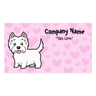 West Highland White Terrier Love Pack Of Standard Business Cards