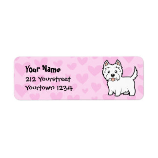 West Highland White Terrier Love Return Address Label